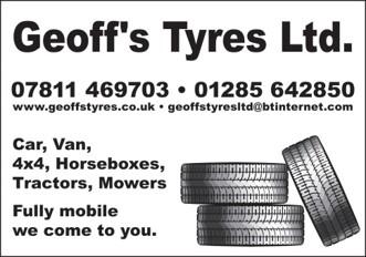 Calmsden Events Sponsored by Geoffs Tyres