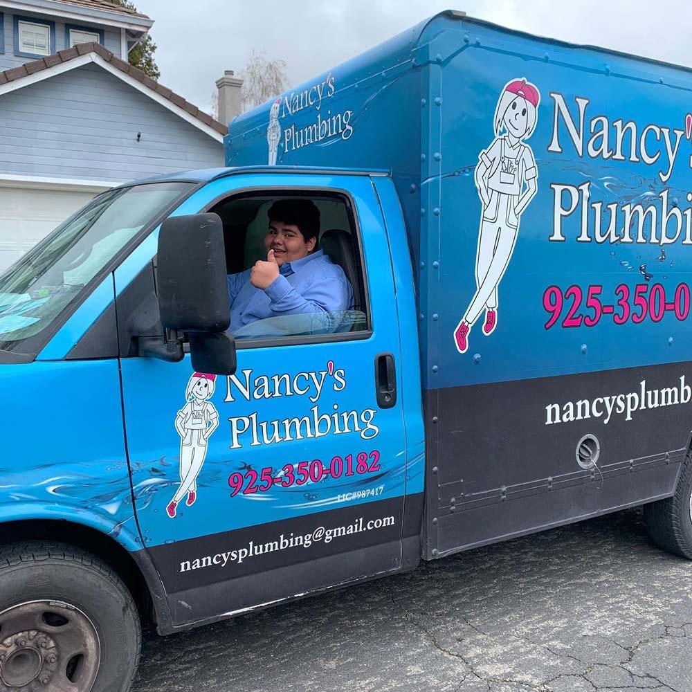 Nancy's Plumbing truck