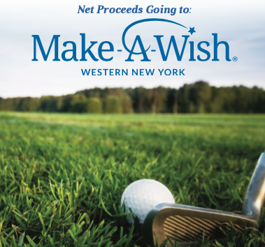 Golf ball and club. Net Proceeds going to make-a-wish Western New York.
