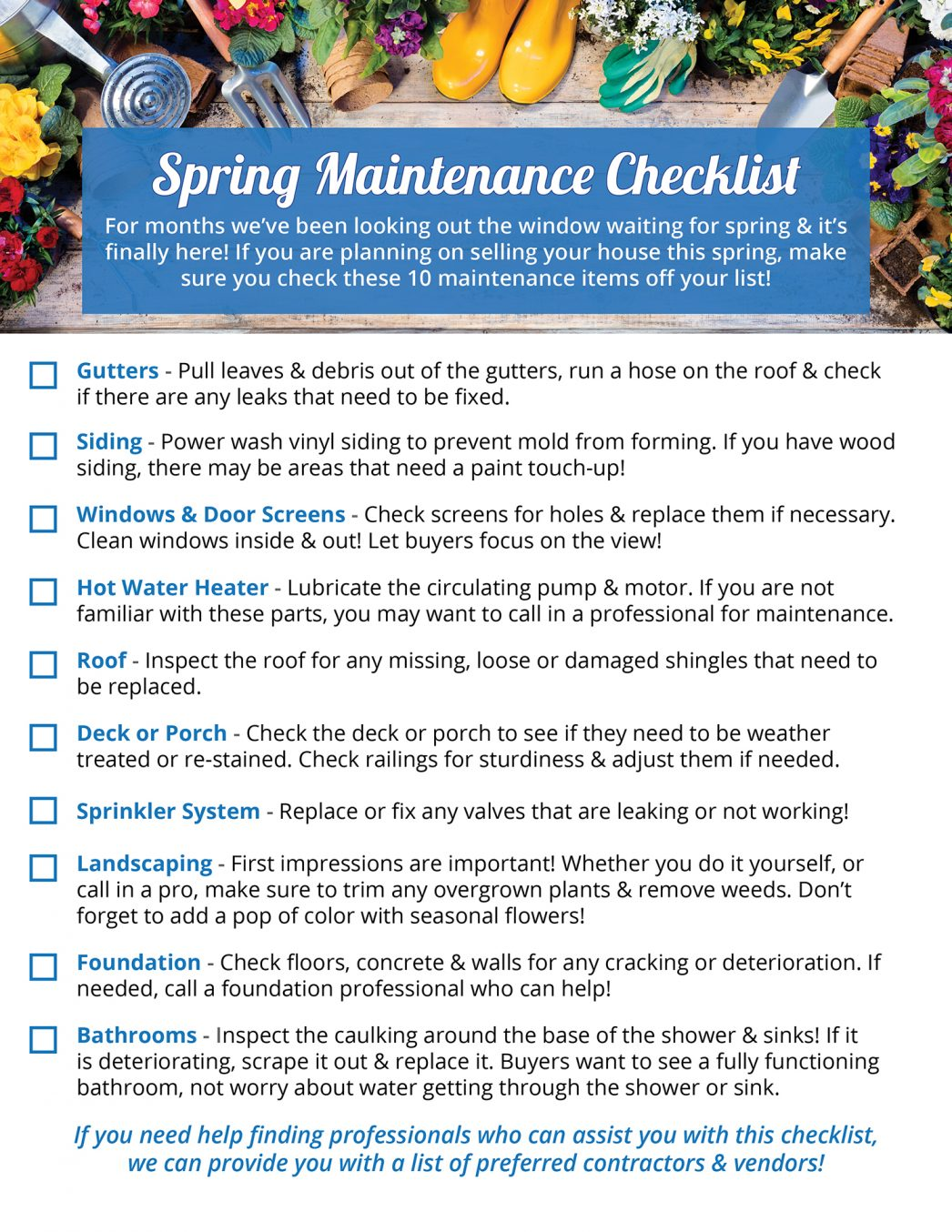 Your Home's Spring Maintenance Checklist [INFOGRAPHIC] | MyKCM