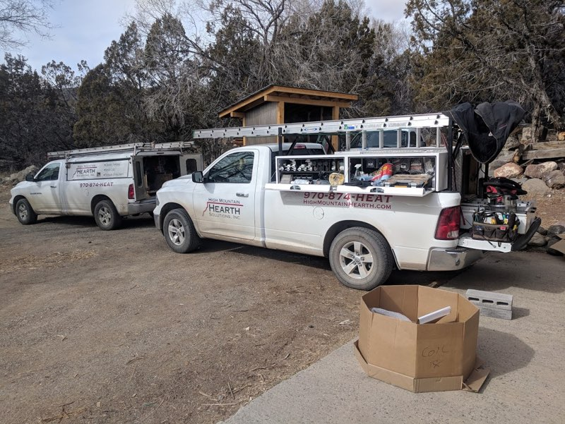 high mountain hearth solutions service trucks