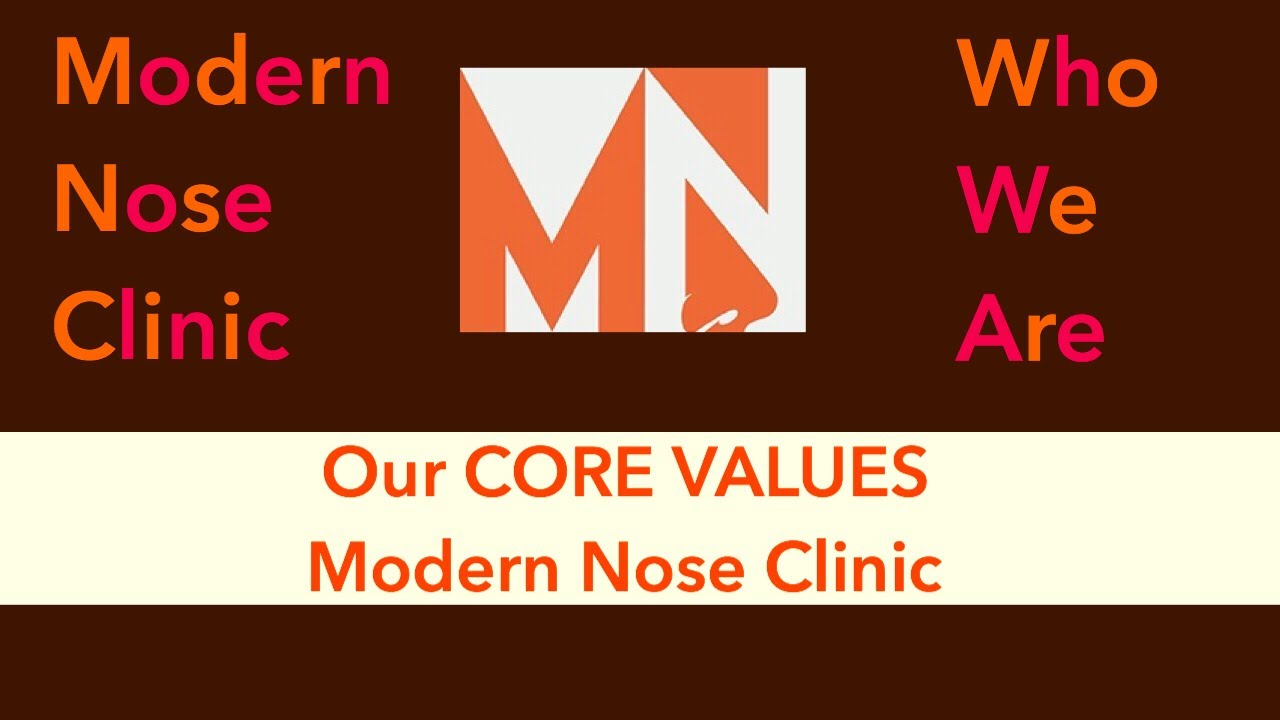 Modern Nose Clinic: CORE VALUES SPEECH