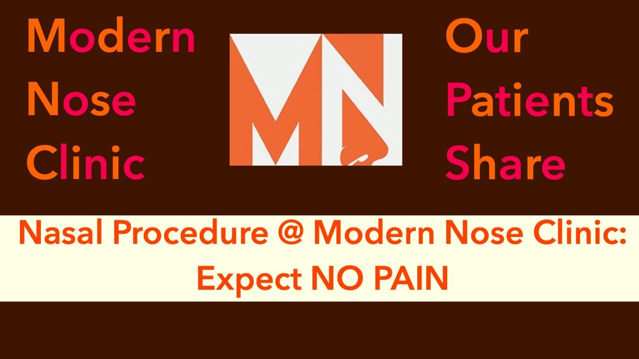 Testimonial: No Pain Nasal Procedure