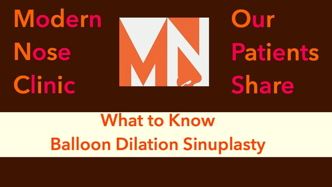 What to know about Balloon Sinuplasty