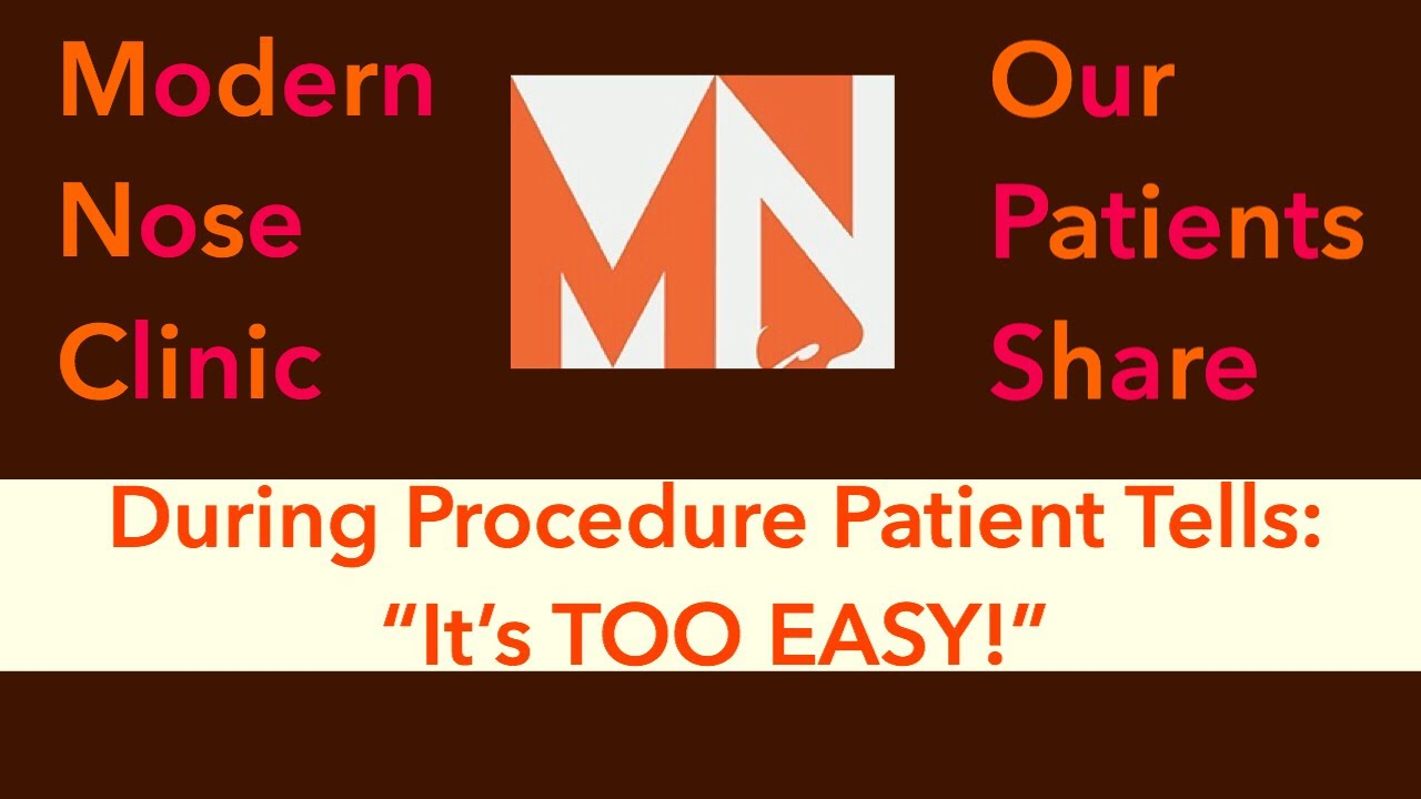 During Nasal Procedure Patient Gives Testimonial