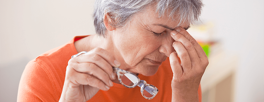 Woman suffering with Chronic Sinusitis pain