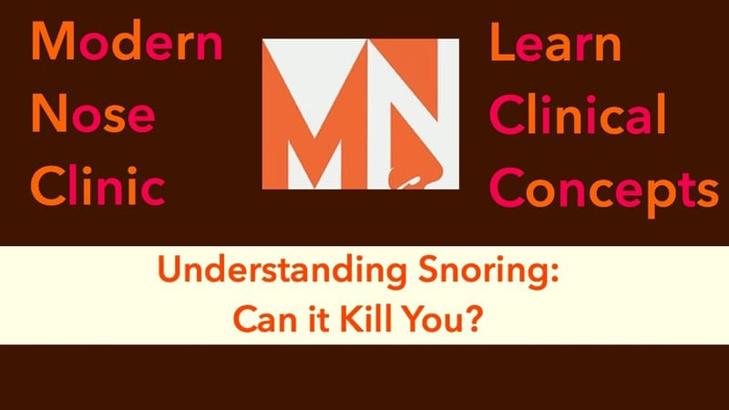 Snoring: Can it KILL YOU?