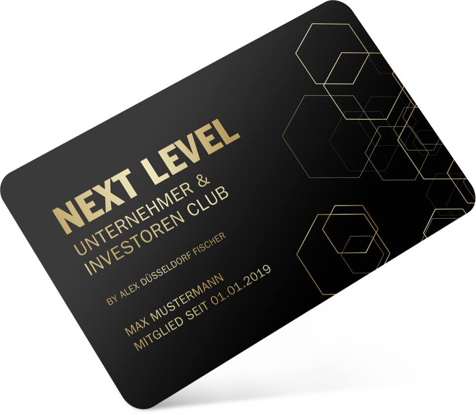 Membercard Next Level Unternehmer und Investoren Club