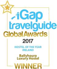 iGap Travel Guide Global Awards 2017 - Hotel of the Year Ireland - Ballyhoura Luxury Hostel