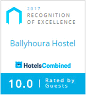 Hotels Combined - Recognition of Excellence 2017 - Ballyhoura Luxury Hostel