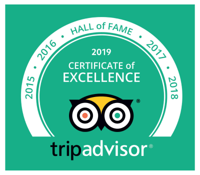 TripAdvisor - Certificate of Excellence 2018 - Ballyhoura Luxury Hostel