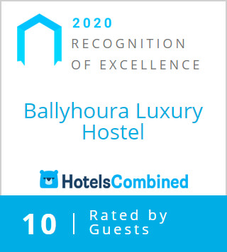 Hotels Combined - Recognition of Excellence 2020 - Ballyhoura Luxury Hostel