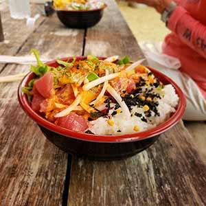 Poke Bowl - Hi5 Hawaii Circle Island Adventure Tour