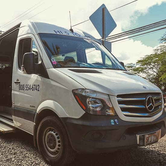 Mercedes Benz Van - Hi5 Hawaii Circle Island Adventure Tour