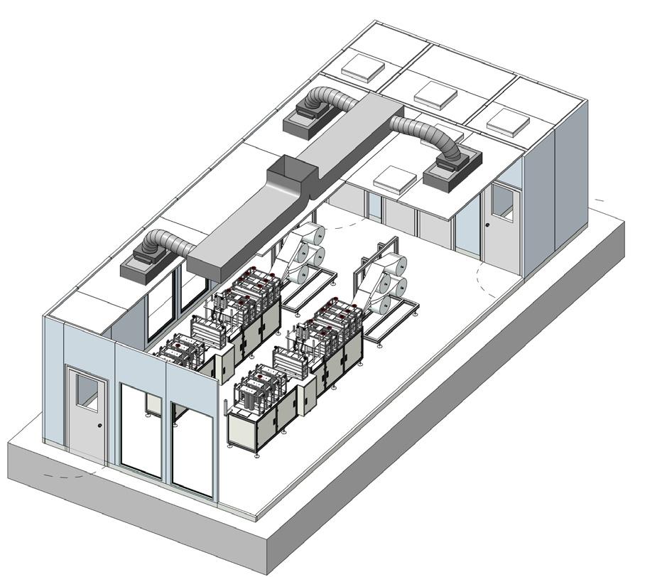 ISO 8 with HVAC unit or FFU system. Built on Nicomac walk on ceiling