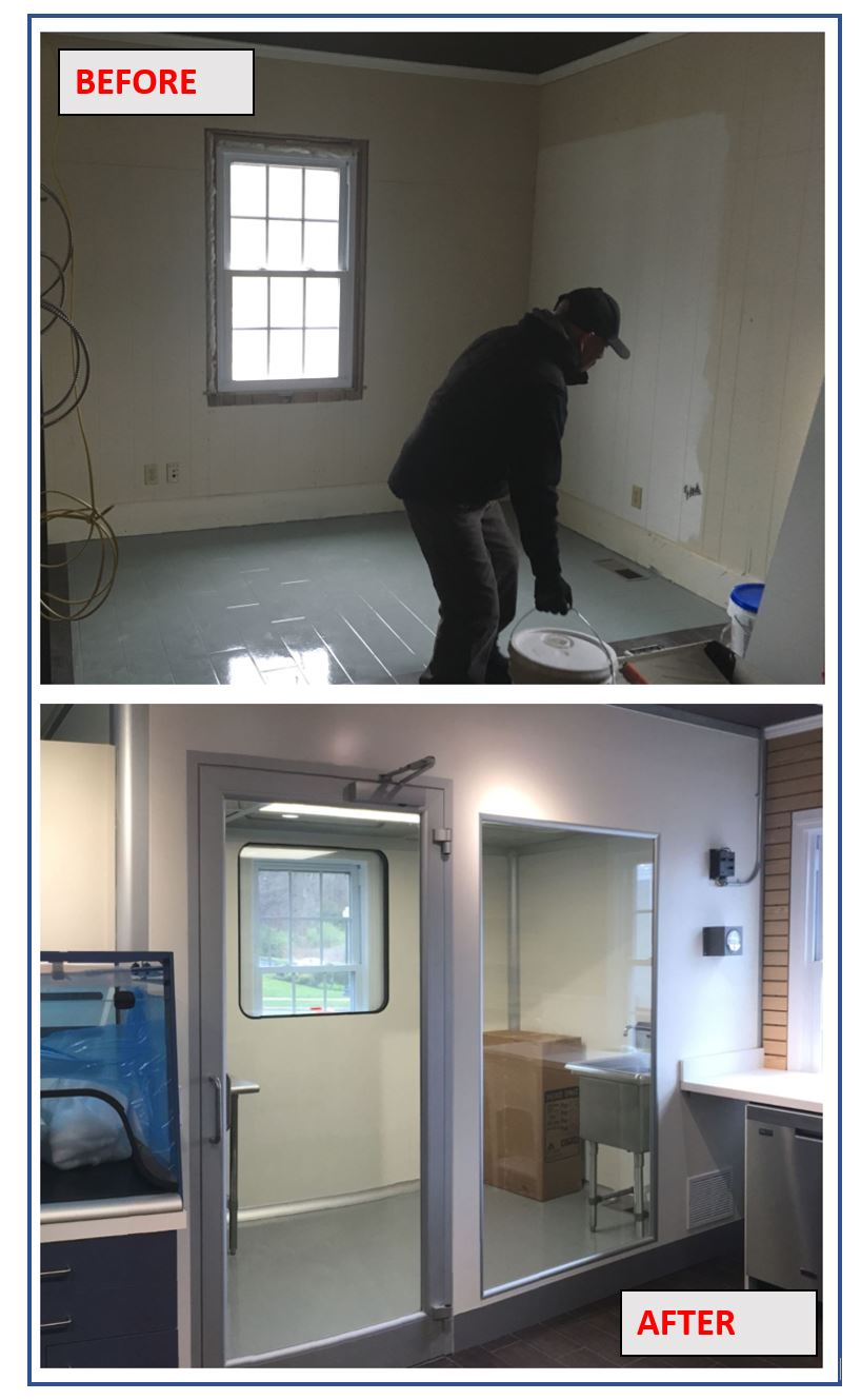 Upgrading and updating an existing shop to build a USP compliant compounding Pharmacy