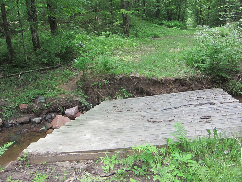 May 2016 deluge damaged this bridge on the Blue Hills Trail