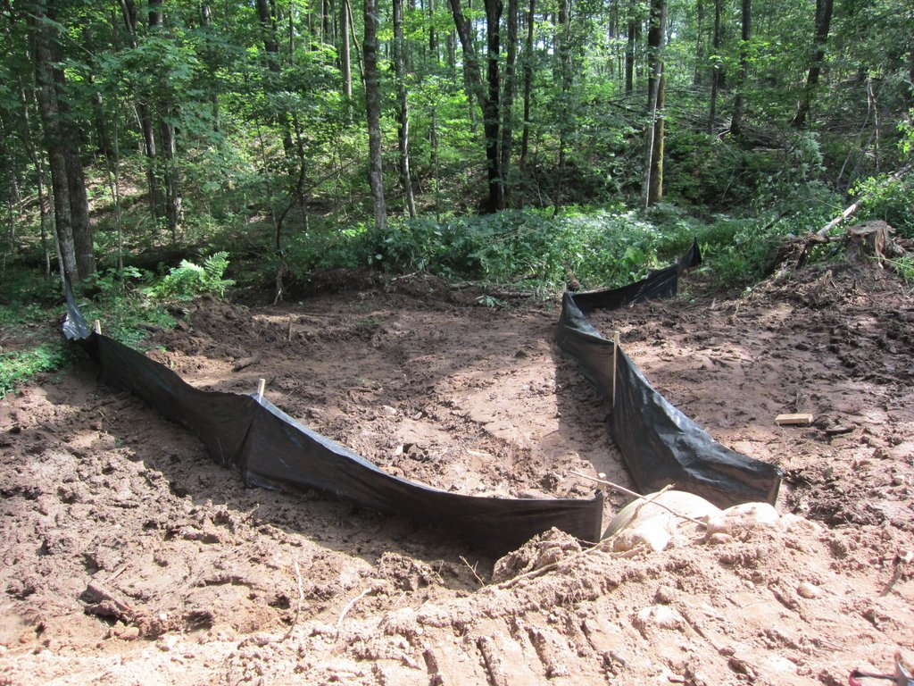 silt fence installed at site of new culvert