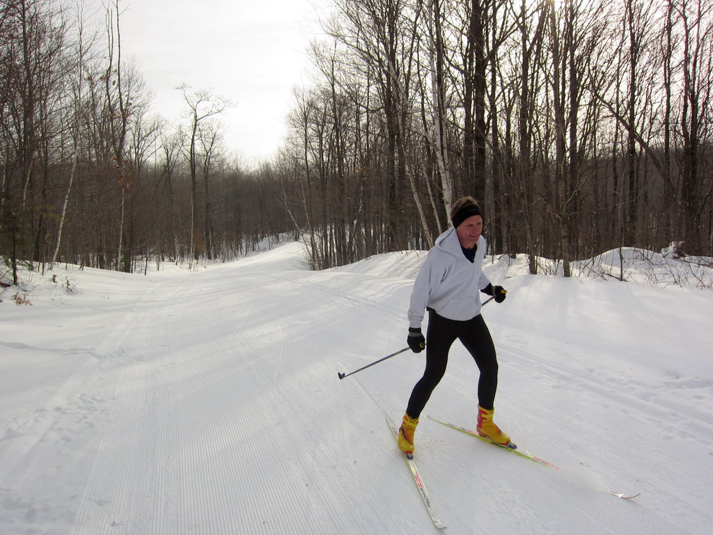 skate skiing early March 2012 at the Blue Hills Trail