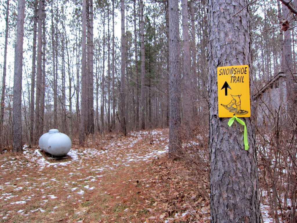 Blue Hills Trail snowshoe trail was developed fall of 2011
