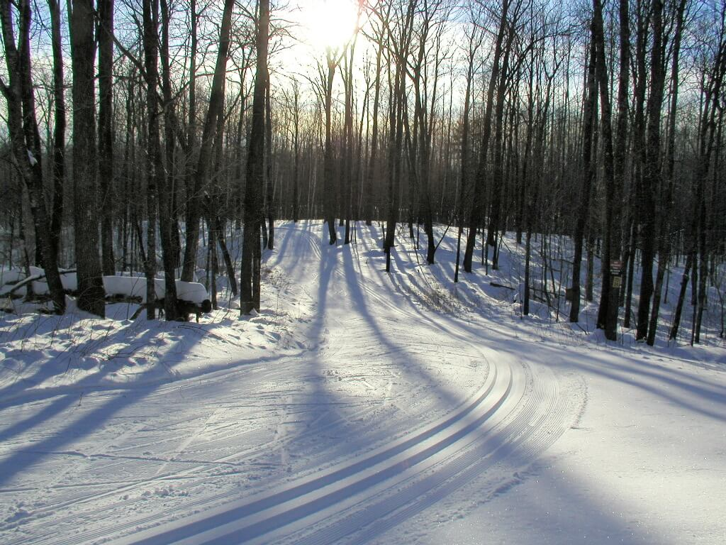 good skate skiing early December 2010 at the Blue Hills Trail