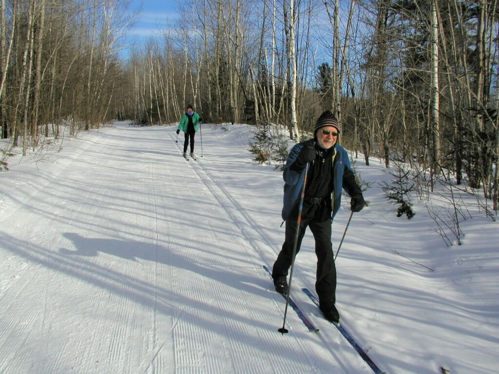 classic skiers early January 2011 at the Blue Hills Trail