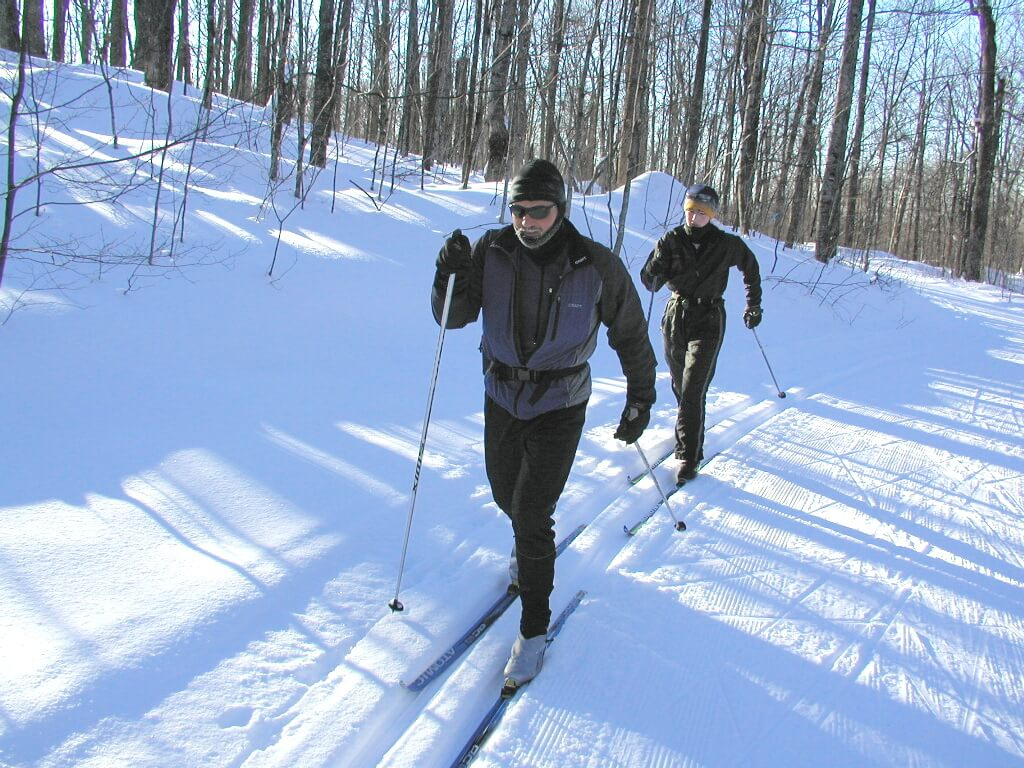 classic skiers January 2011 at the Blue Hills Trail