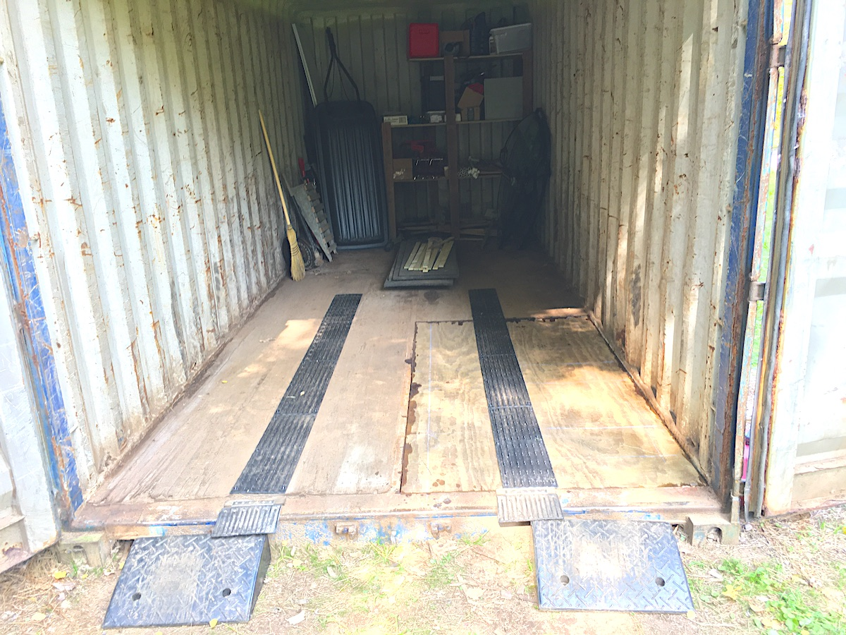 Blue Hills Trail has new flooring in our older shipping container