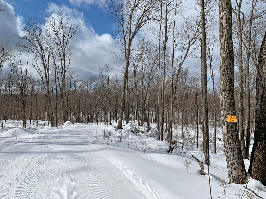 great cross country ski conditions at the Blue Hills Trail