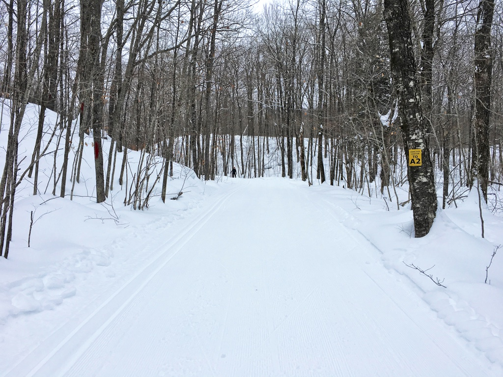 nice grooming on the Blue Hills Trail