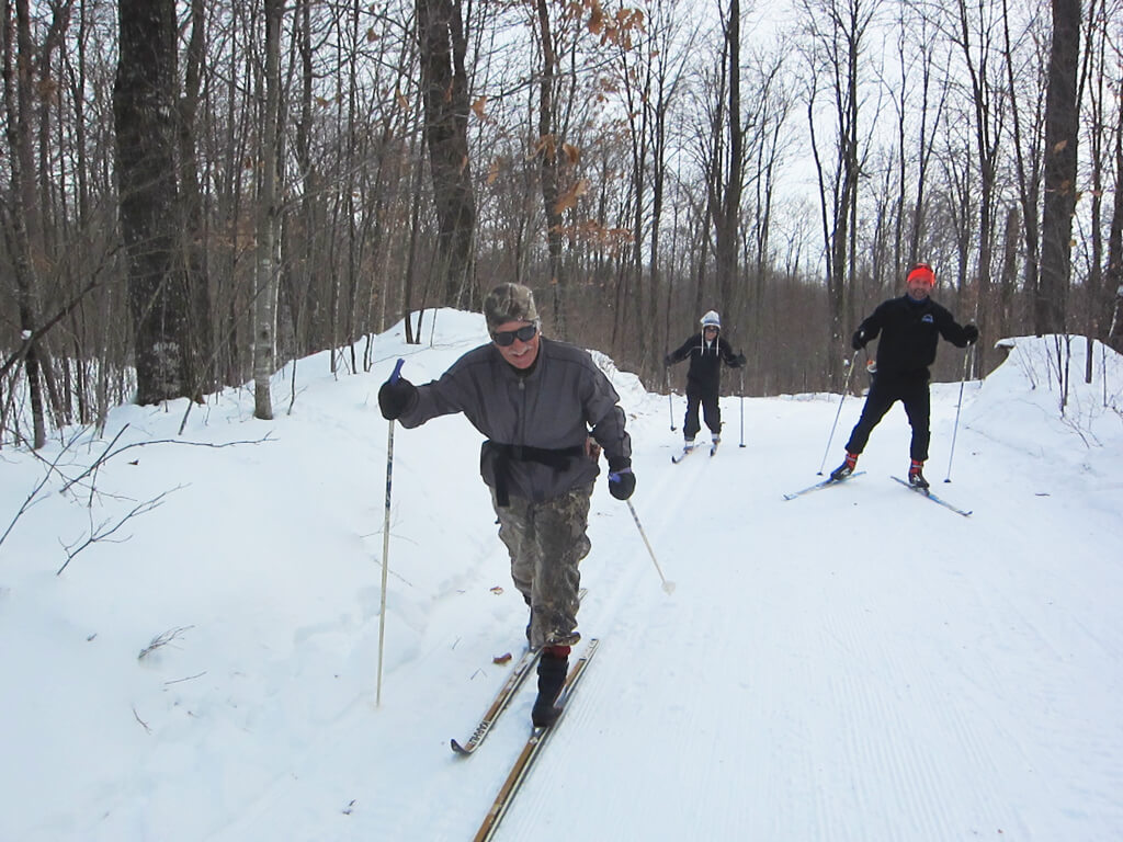 good cross country skiing in early December 2019 at the Blue Hills Trail in northern Wisconsin
