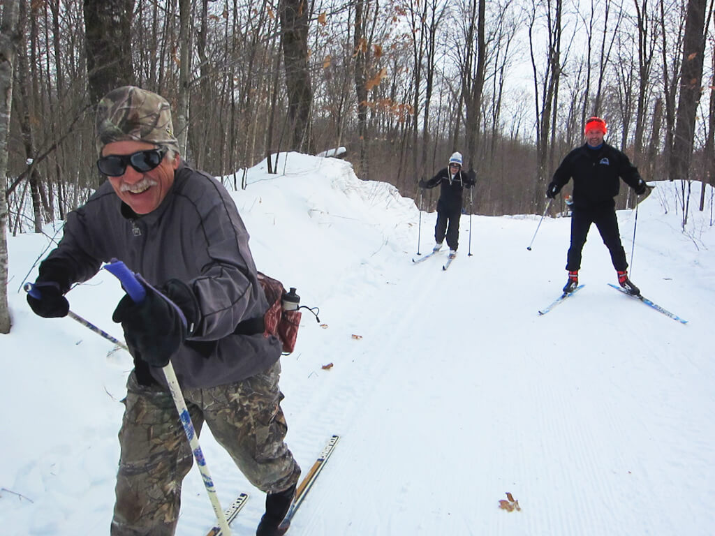 good cross country skiing in early December 2019 at the Blue Hills Trail