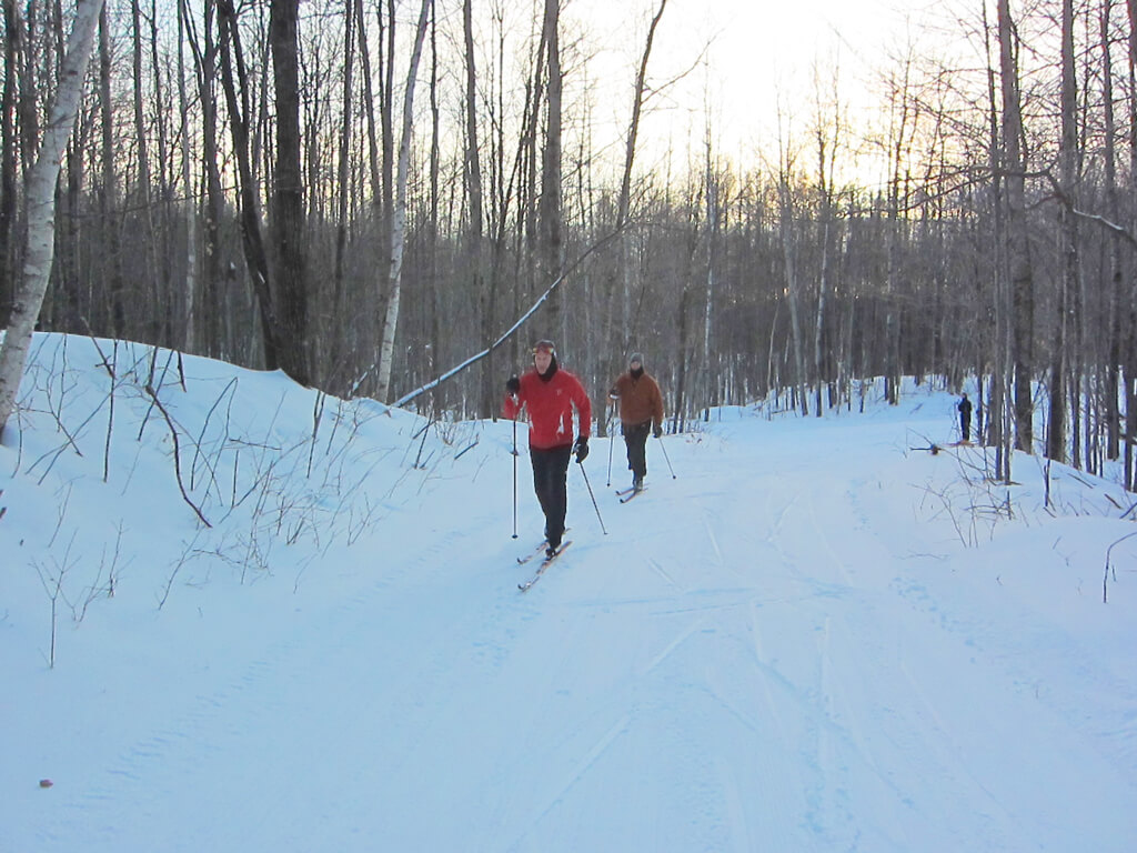 January 2019 classic skiing on the Blue Hills Trail
