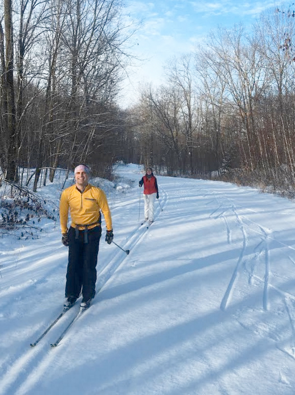 classic skiing on the East Side of the Blue Hills Trail in northwest Wisconsin