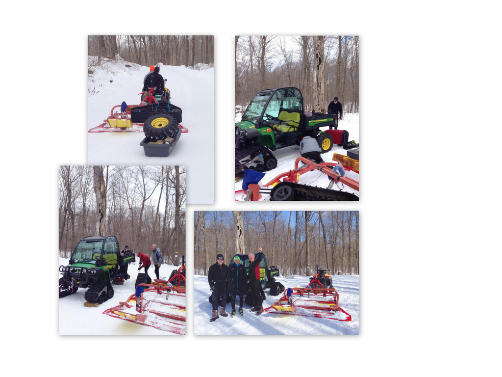 photo collage shows work that fixed broken axle on the Gator
