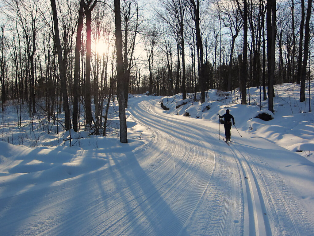 early March 2015 great cross country skiing at Blue Hills Trail