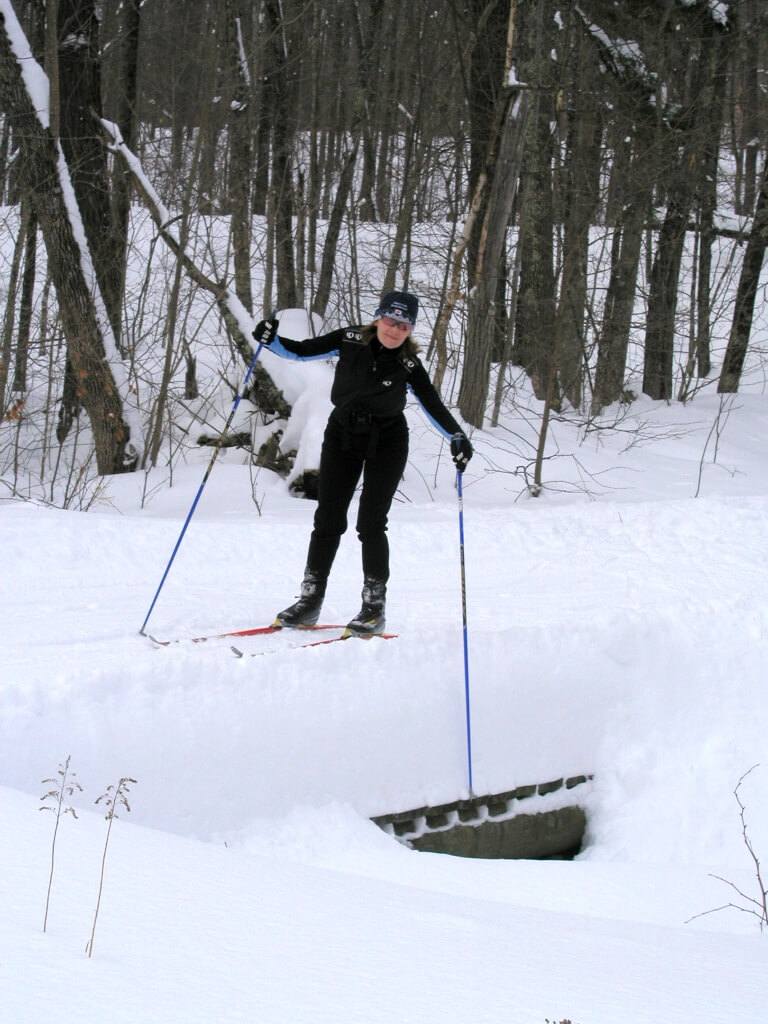 impressive snow depth in late February 2011 on the Blue Hills Trail