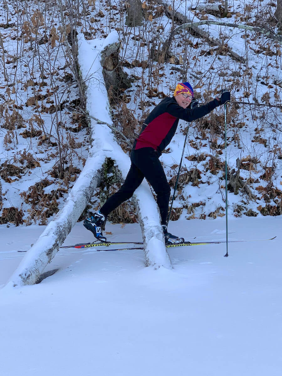 Magical cross country skiing on Audie Lake in northwest Wisconsin