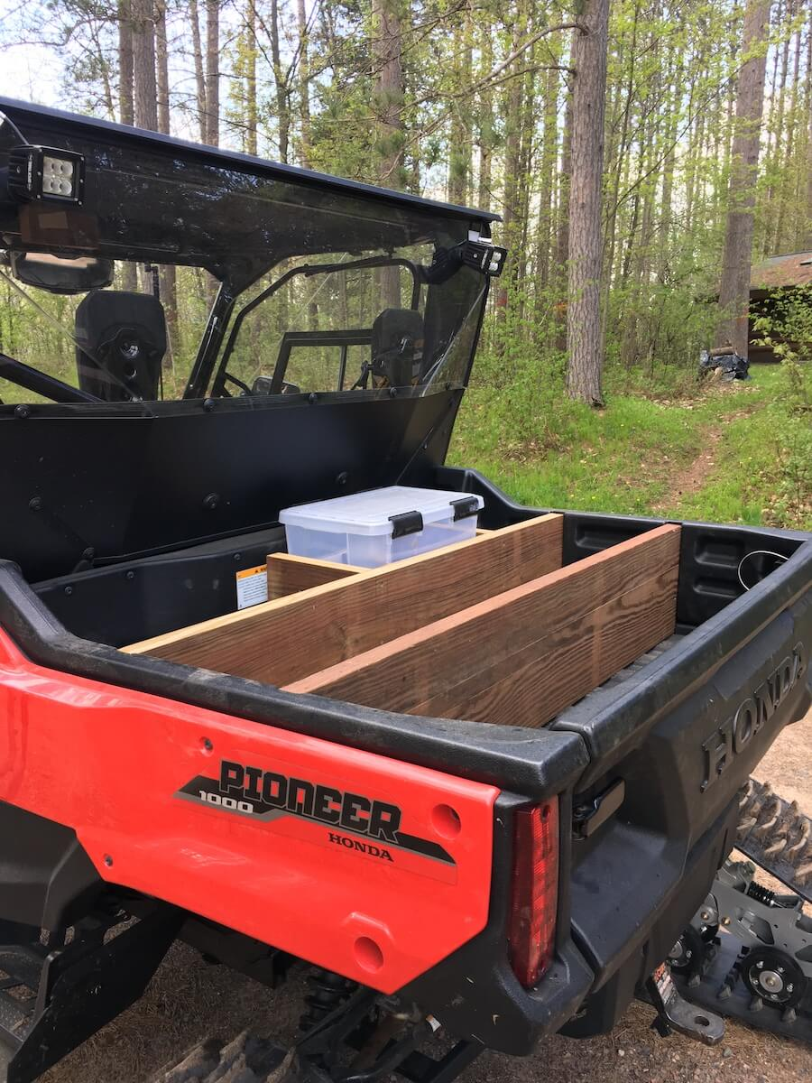 modifying the cargo bed