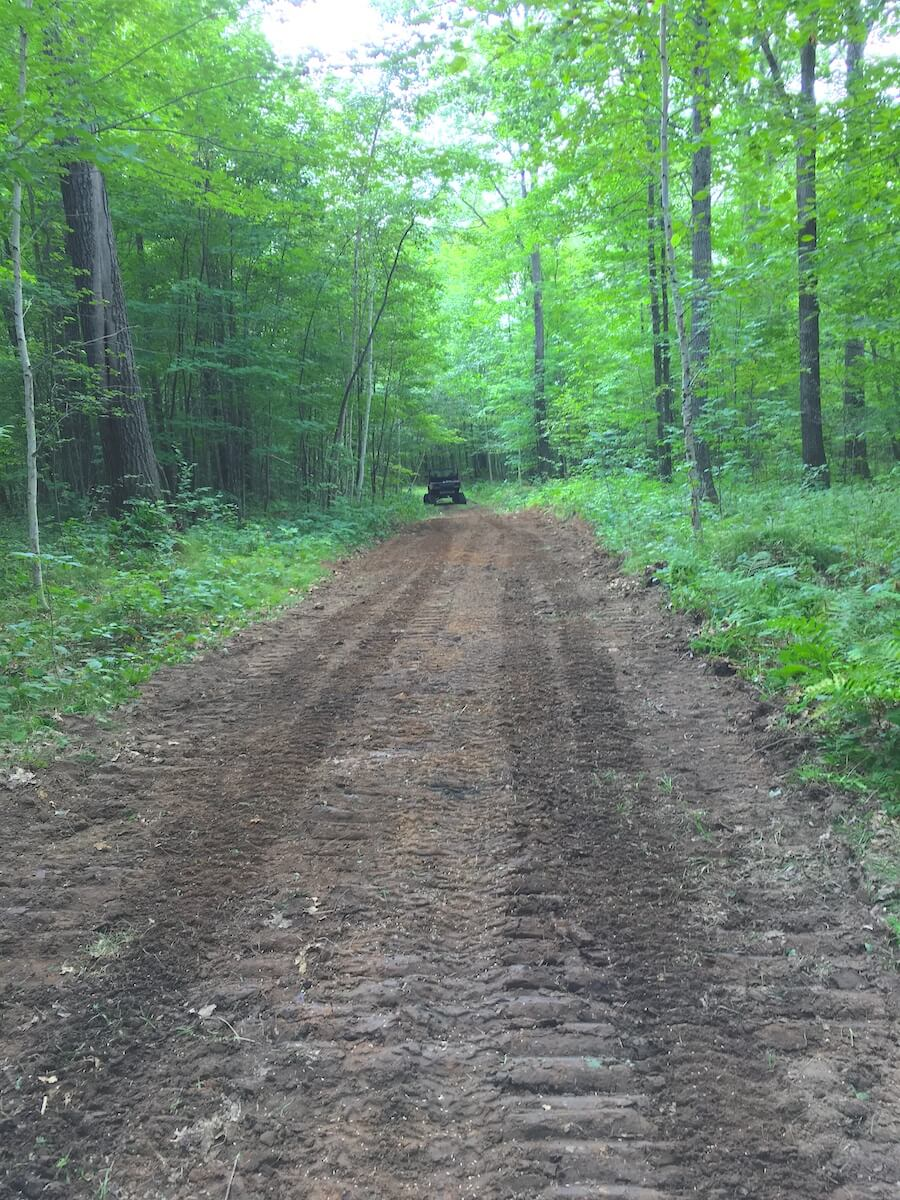 Bulldozing on Blue Hills Trail on the Hairpin Trail