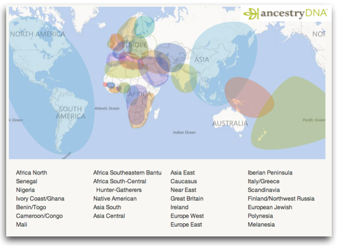 Ancestry DNA Global Map