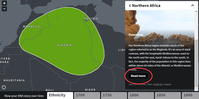 DNA Story Chart North Africa
