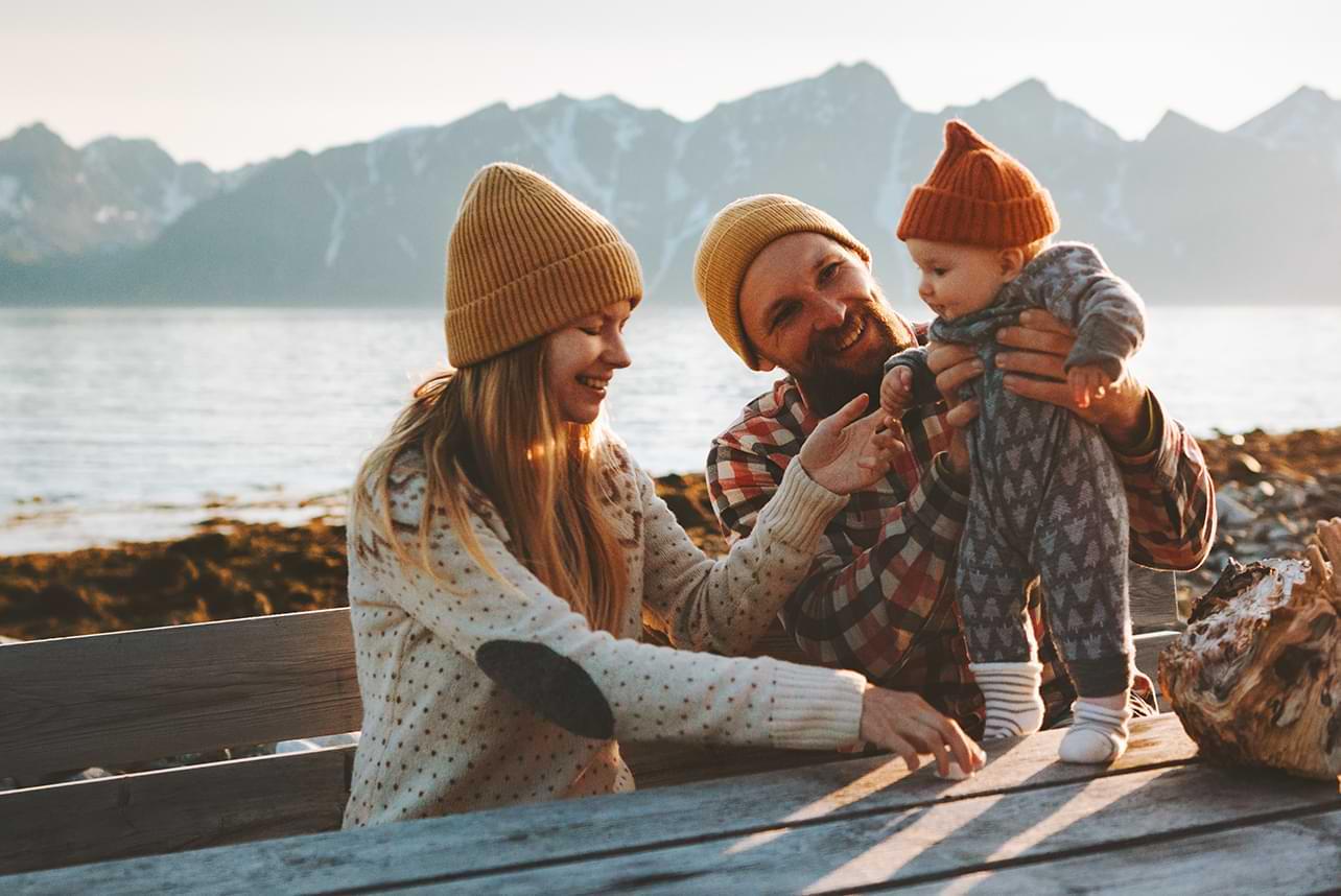 En harmonisk barnefamilie