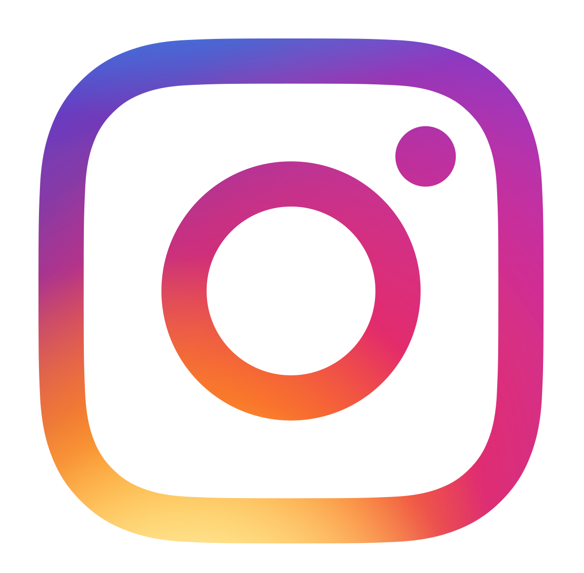 Colorful instagram logo with link to store instagram page