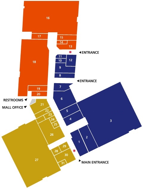 Westwood Mall map