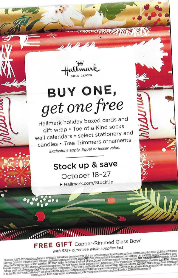 buy one get one free wrapping paper
