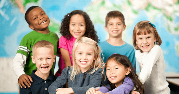 classroom, young students, diversity