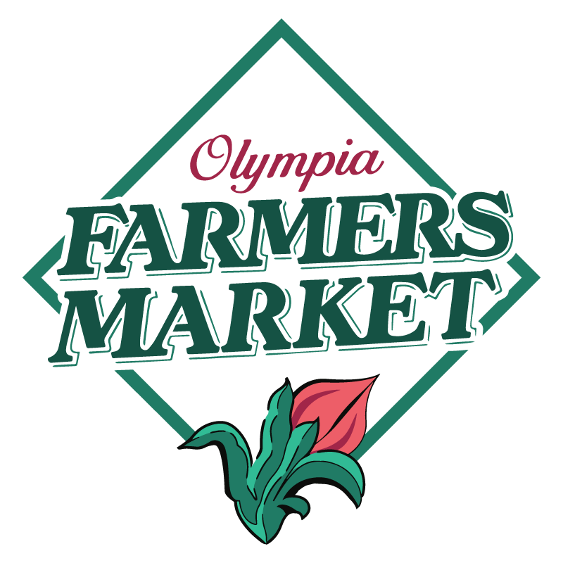 Olympia Farmers Market Logo (Diamond Motif with Tulip)