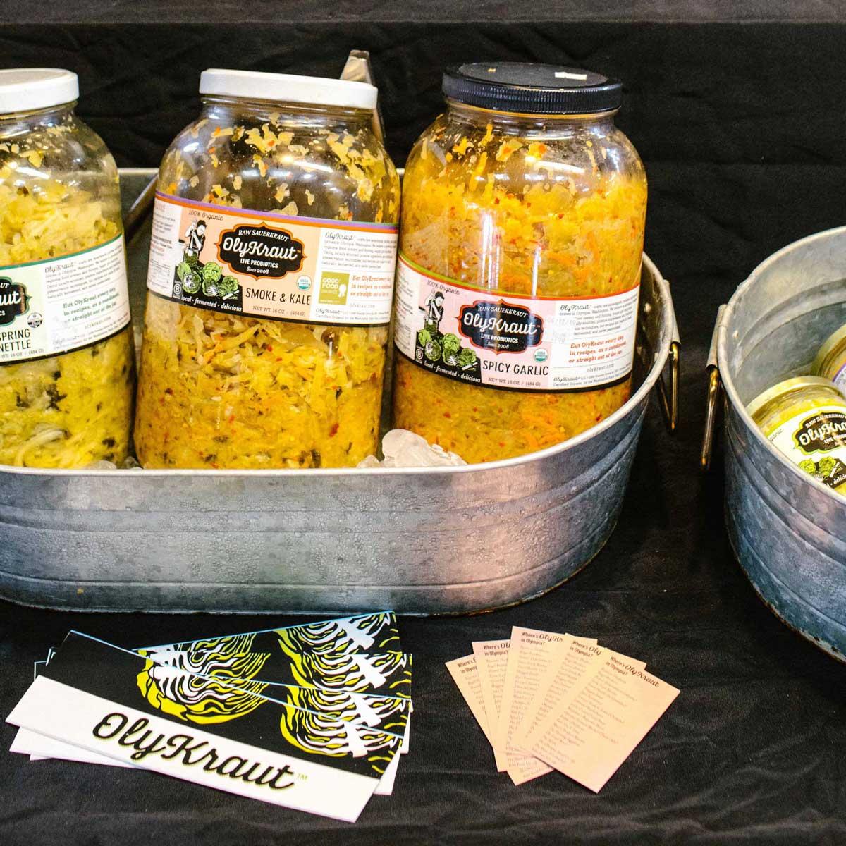 Sauerkraut jar display
