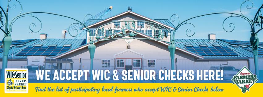"Poster ""We Accept WIC & Senior Checks Here"""